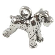 Schnauzer Dog 3D Sterling Silver Charms